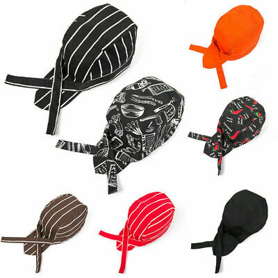 Colourful Unisex Men Women Cook Kitchen Chef Cap Professional Catering Hat New