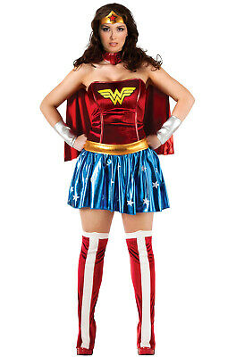 Brand New Superhero Deluxe Wonder Woman Plus Size Costume