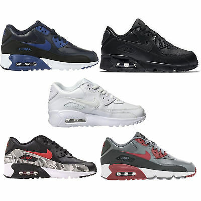 Nike 833412 Kid's Air Max 90 Leather Running Shoes