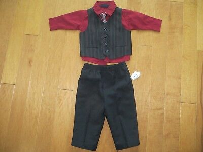 Boys 12 month Dockers 4 piece suit Christmas holiday winter