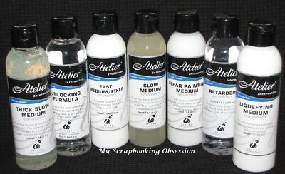 Atelier Interactive 'MEDIUM' 250ml Acrylic Paint (You choose) Low-Med Viscosity