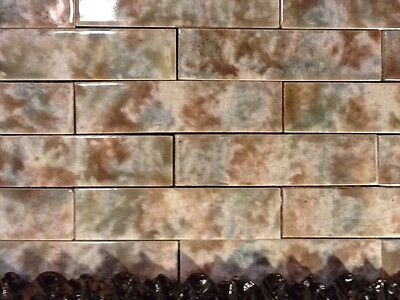 COMPLETE SET VINTAGE VICTORIAN ANTIQUE FIREPLACE TILE MANTLE SURROUND Storm Grey