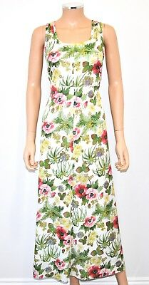 VTG 60'S 70'S Floral Botanical Print Maxi Dress With Jacket 2 Pc Set - Sz. S/M