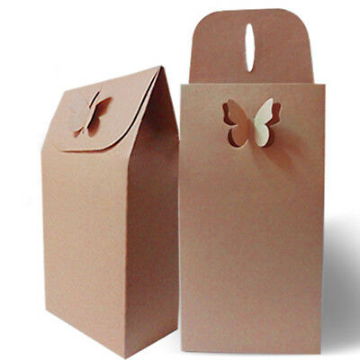 Kraft Paper Boxes Wedding Favour Gifts Box Present Package Bags Pouch Solid Bag