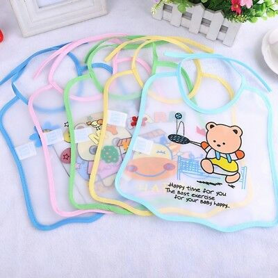Baby Kids Boy Girl Waterproof Bibs EVA Saliva Towel Cartoon Bib Feeding Bandana