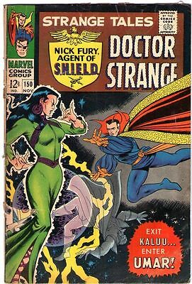 Strange Tales # 150 Nick Fury Agent of Shield Dr Strange Beautiful Silver age...