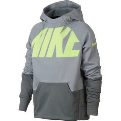 Nike Youth Boys Therma Fleece GFX Pullover Hoodie 899627-012 Grey