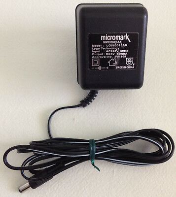 Micromark Lygo Technology AC - DC Power Adapter MM23208(SAA) LG060015AU 6V 150mA