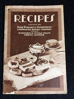Vintage Zinmaster Bakery Recipe Booklet (Includes Recipes, History, and Photos)