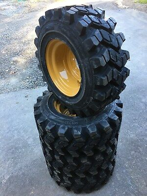 4 HD Camso SKS753 12-16.5 Skid Steer Tires/Wheels/Rim for Caterpillar - 12X16.5