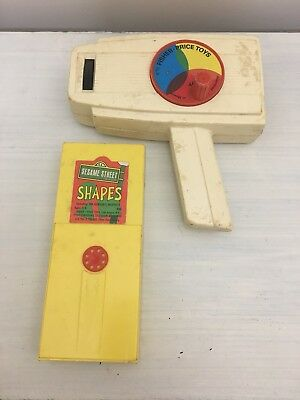 Vintage 1973 Fisher Price Movie Viewer W/ Sesame Street Shapes Tape