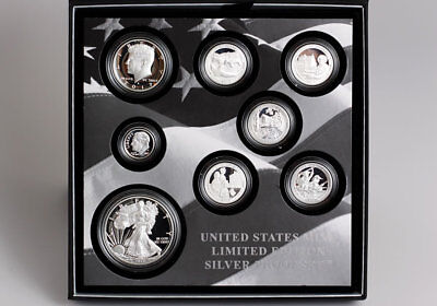 2017 Limited Edition Silver Proof Set 17Rc With S-Mint Silver Eagle 50000 Minted