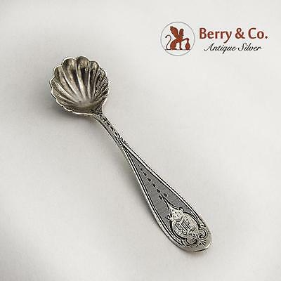 Coin Silver Master Salt Spoon Engine Turned Designs 1860