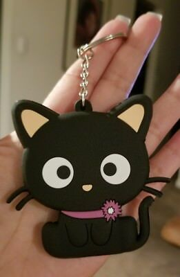 "Chococat Keychain Cute Perfect GIFT Kawaii 3"" design on both sides NEW"