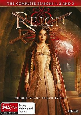 Reign : Season 1-3 (DVD, 2016, 14-Disc Set) (Region 4) Aussie Release