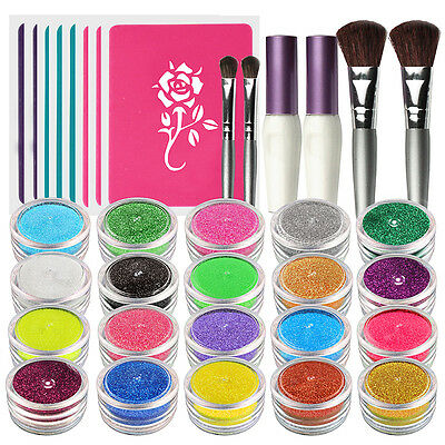 OPHIR Glitter Powder Tattoo Body Art Paint Temporary Tattoos Body Paint Stencil