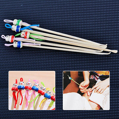 10PCS Cute Bamboo Doll Ear Wax Remover Pick Spoon Earpick Earwax Cleaner Tool