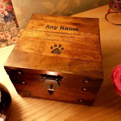 Large Wooden Pet Urn Cremation Box For Ashes Dog Ash Box Personalised Engraved
