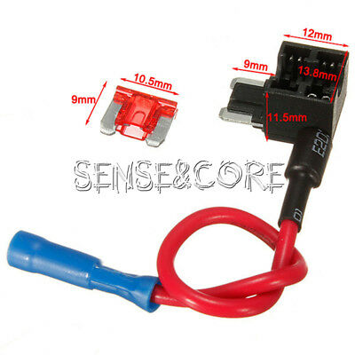 Car Add-a-circuit 12V Fuse Micro ATM APM Auto 10A Blade Fuse Holder TAP Adapter