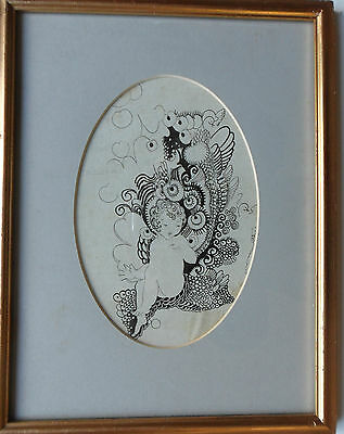 Katie Blackmore Rba Aswa (Fl1913-1950) Original Signed Pen & Ink Drawing C1920's