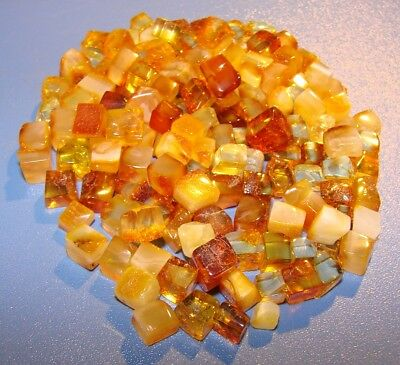 20 gr. NATURAL  QUALITY RAW AMBER. 157 pieces * polished natural amber cubes *