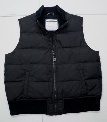 Old Navy Womens XL Black Nylon Fleece Lined Down/ Fowl Insulated Puffer Vest