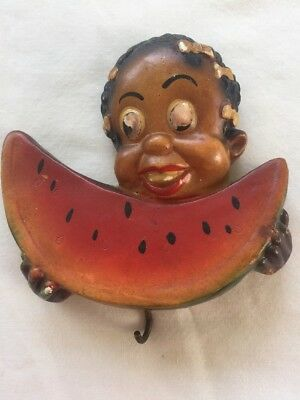 Black Americana Chalkware Watermelon Child