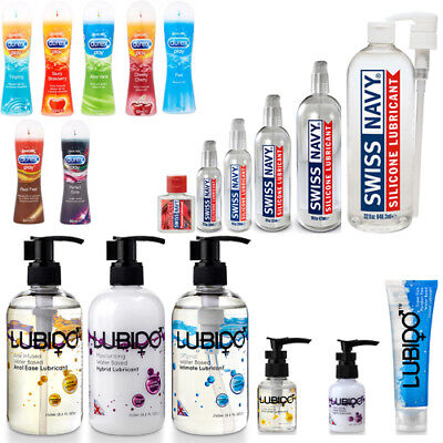 Swiss Navy Silicone Based Lubricant, Lubido, Durex Anal Vaginal Oral Sex Lube