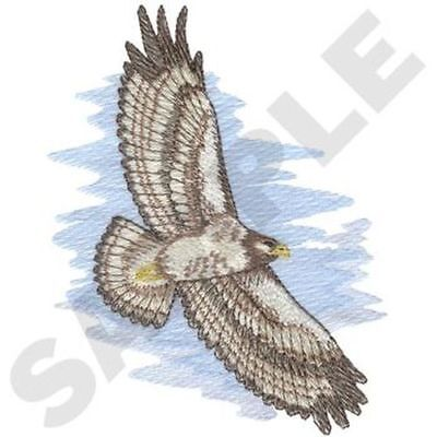 "Hawk Embroidered Patch 4.9"" x  6.3"""