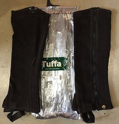 Tuffa  Suede Brown Half Chaps Size Adult Large