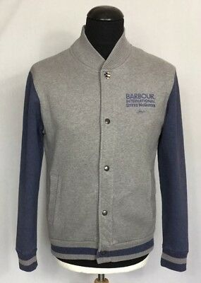 Brand New Barbour Steve McQueen Varsity College Jacket Grey Large