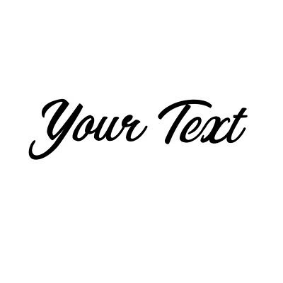 CUSTOM 2x5 Sticker Black YOUR TEXT Vinyl Decal Car Window Bumper Personalized