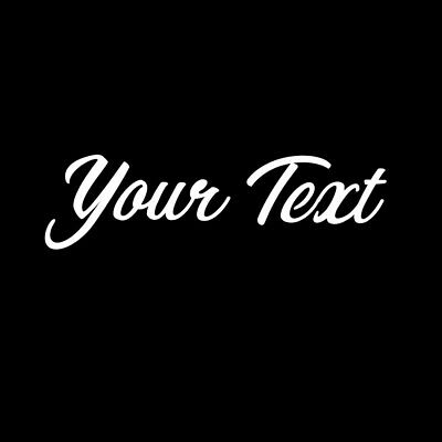 CUSTOM 2x5 Sticker White YOUR TEXT Vinyl Decal Car Window Bumper Personalized