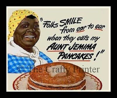 Black Americana MAGNET - AUNT JEMIMA PANCAKES - Folks Smile From Ear to Ear!