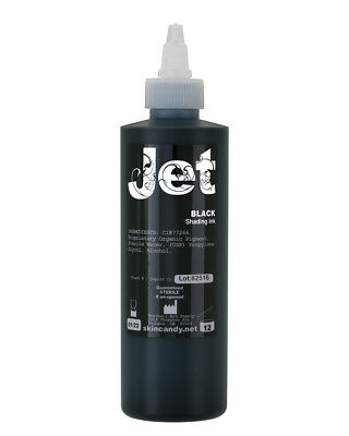 Jet Black Outlining And Shading Tattoo Ink, 8oz.