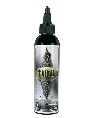 TRIBAL ONE PASS BLACK Tattoo Ink by Skin Candy 4-oz Bottle Tattoo Ink Supply