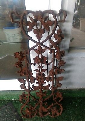 "Antique Ornate Cast Iron Window Guard Grate 27"" x 12"" Architectural Salvage"