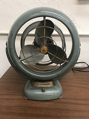 Vintage Vornado  Jr. Art Deco Mid Century Modern Desk Fan model 1402