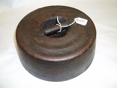 Weight, Horse / Cow Weight / Tether / Anchor Vintage 25 lb 9 oz Cast Iron Weight