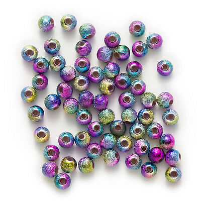 Multicolor Stardust Acrylic Round Chunky Jewelry Making Spacer Beads 4-16mm