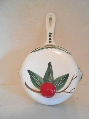 Vintage Large Ceramic Skillet with Apple Wall Pocket-Ranchito Calif