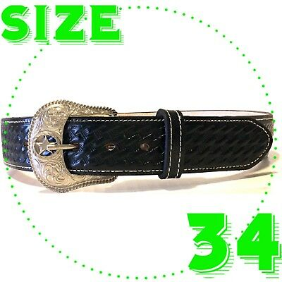 Cinto Mexican Leather Charro Belt Western Cowboy Vaquero Fajo