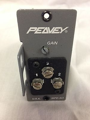 Peavey MPE-SO Electronically Balanced Microphone Preamp