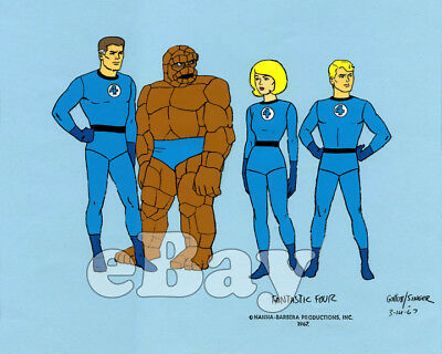 Rare! FANTASTIC FOUR Cartoon Color TV Photo HANNA BARBERA Studios MARVEL COMICS