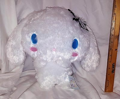 New Sanrio Cinnamoroll Double Lace Big Plushy! Black Ribbon! Japan! Us Seller!