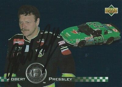 Robert Pressley Autographed 1995 Upper Deck Racing Nascar Photo Trading Card