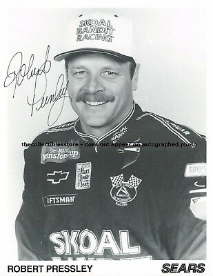 Robert Pressley Autographed Skoal Bandit Sears Racing Nascar Winston Cup Photo