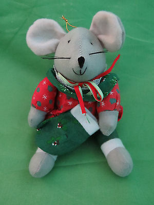 """7""""  Plush Toy Mouse Christmas Tree Ornament"""