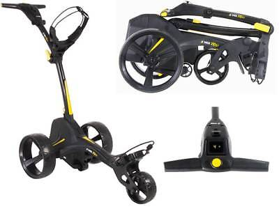 MGI 'Zip X1' Motorised Golf Buggy - 18 Hole Lithium Battery (Black/Yellow)