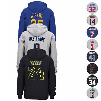 NBA Adidas Player Name & Number Jersey Pullover Fleece Hoodie Collection Men's